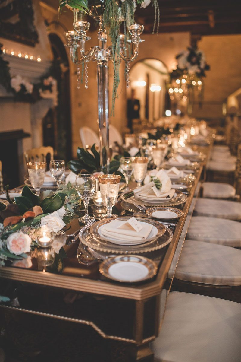 Reception long table close up - Tara Tomlinson Photography