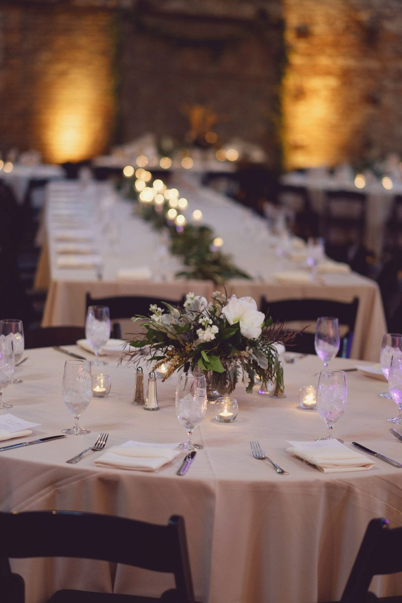 Reception table with centerpiece -Adam for W.Scott Chester