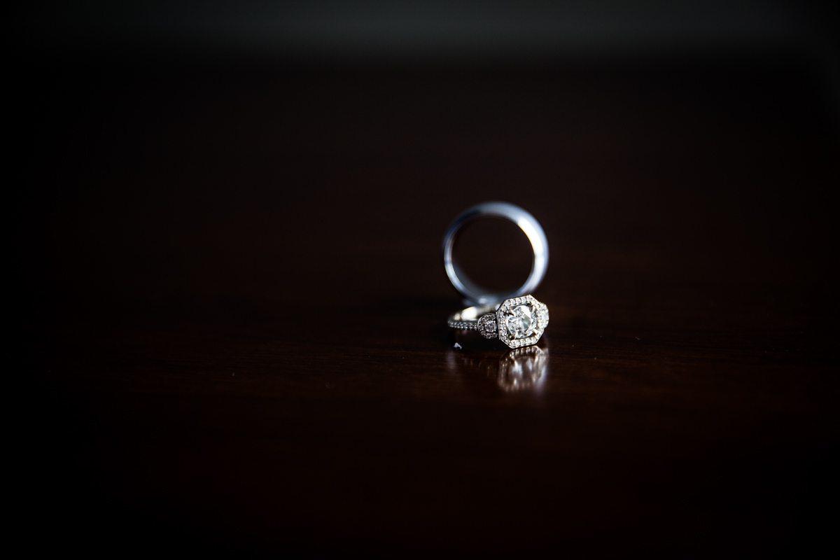 Rings Against Dark Background