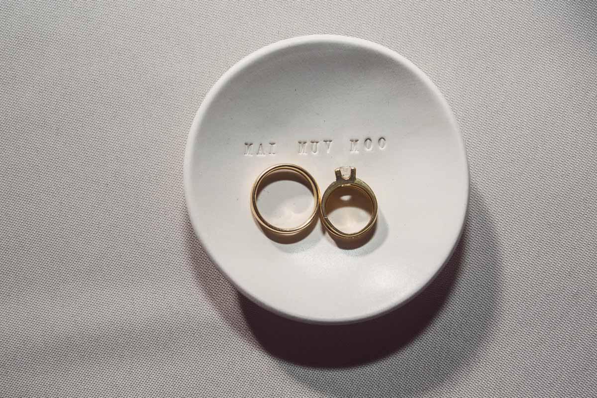 Rings in White Saucer - Adam for W.Scott Chester