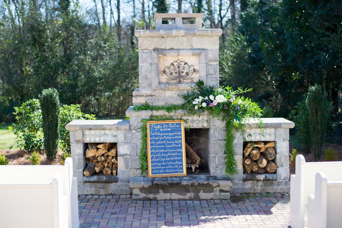 Stone Fireplace Altar
