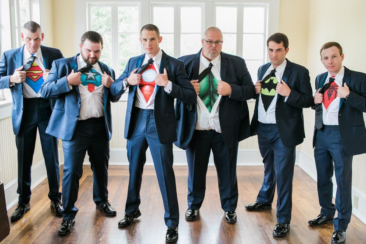 Superhero Shirt Groomsmen