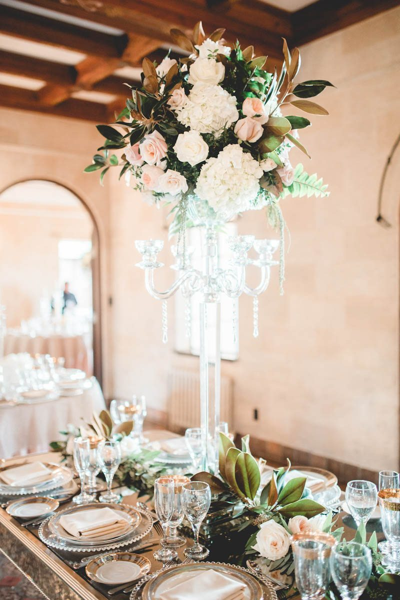 Tall Flower Centerpiece - Tara Tomlinson Photography
