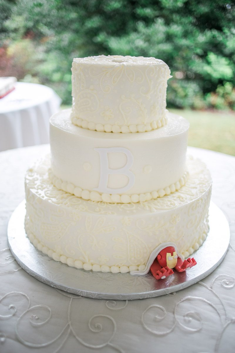 Tiered Buttercream White Wedding Cake
