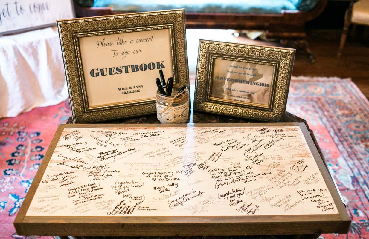 Wooden Guestbook