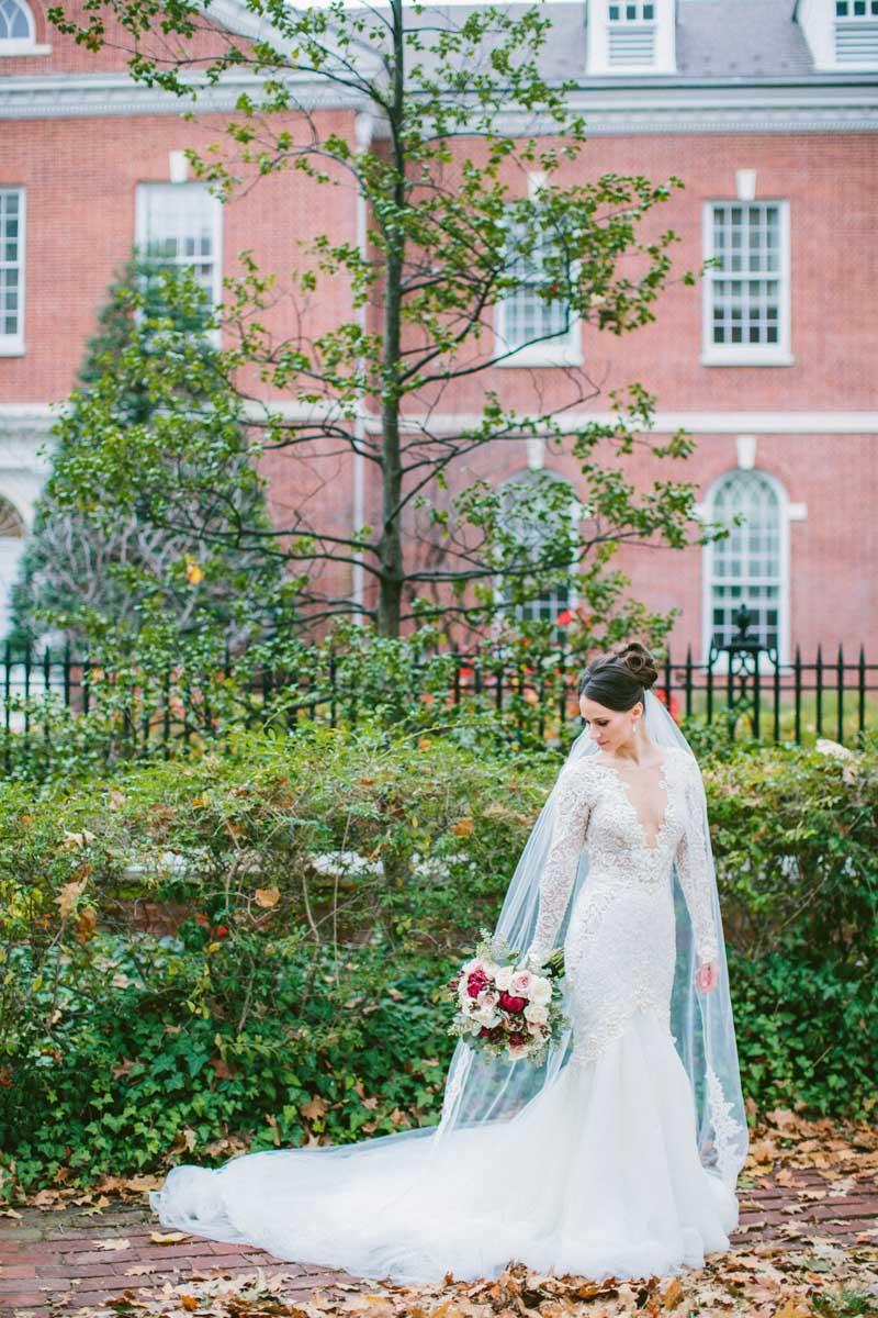 berta bridal lace wedding dress full length