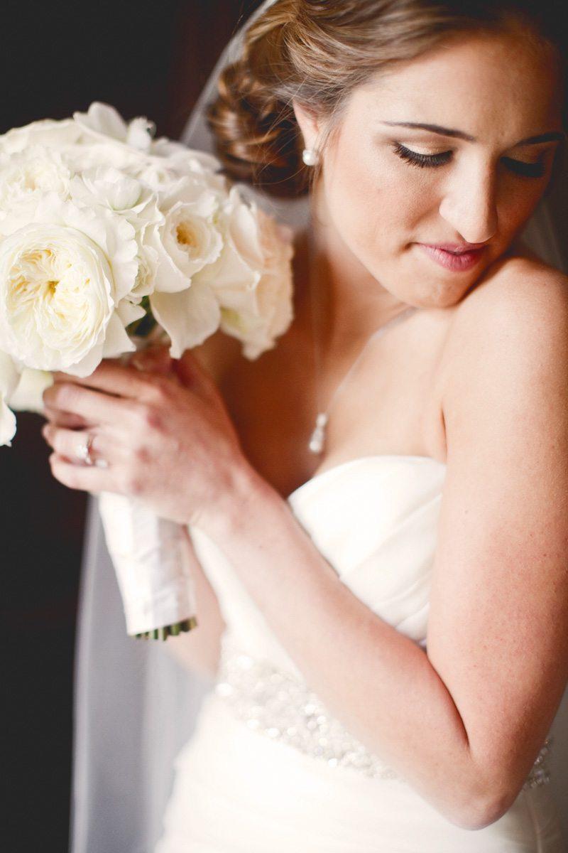 bride bouquet portrait