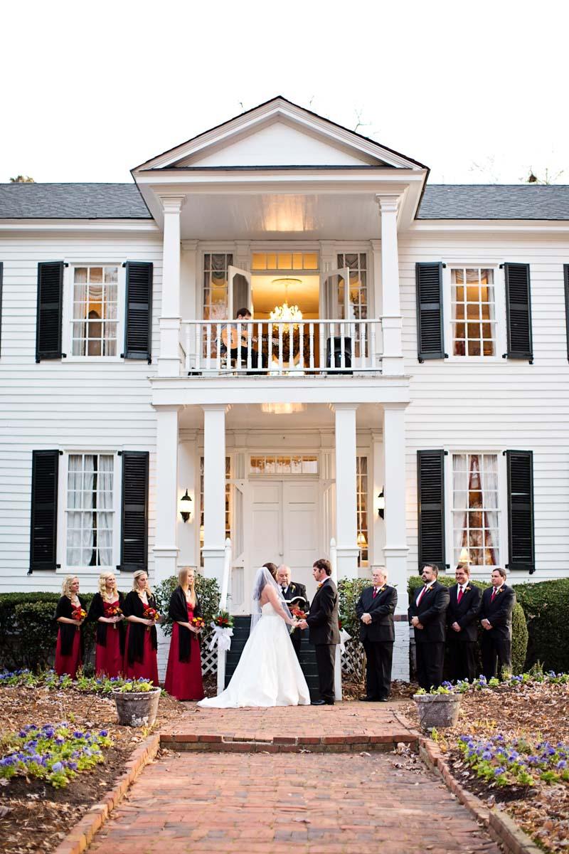 ceremony outdoor hazlehurst house