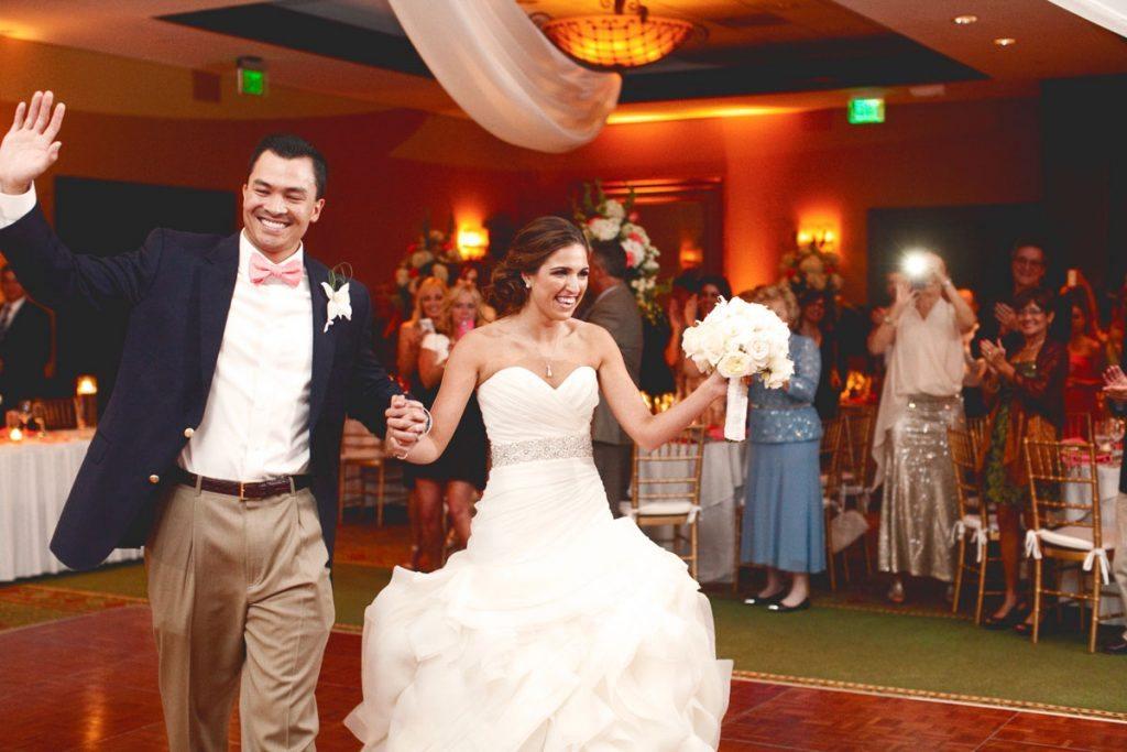 couple reception entrance