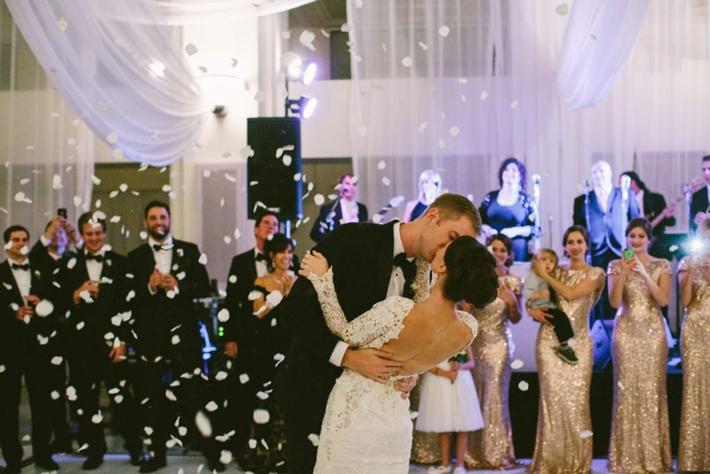 First Dance Confetti Reception