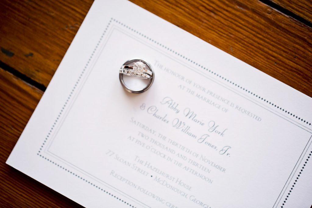 invitation wedding ring