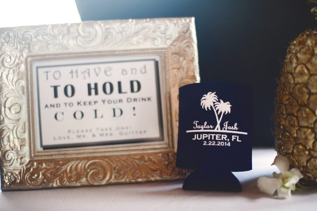 personalized koozie sign