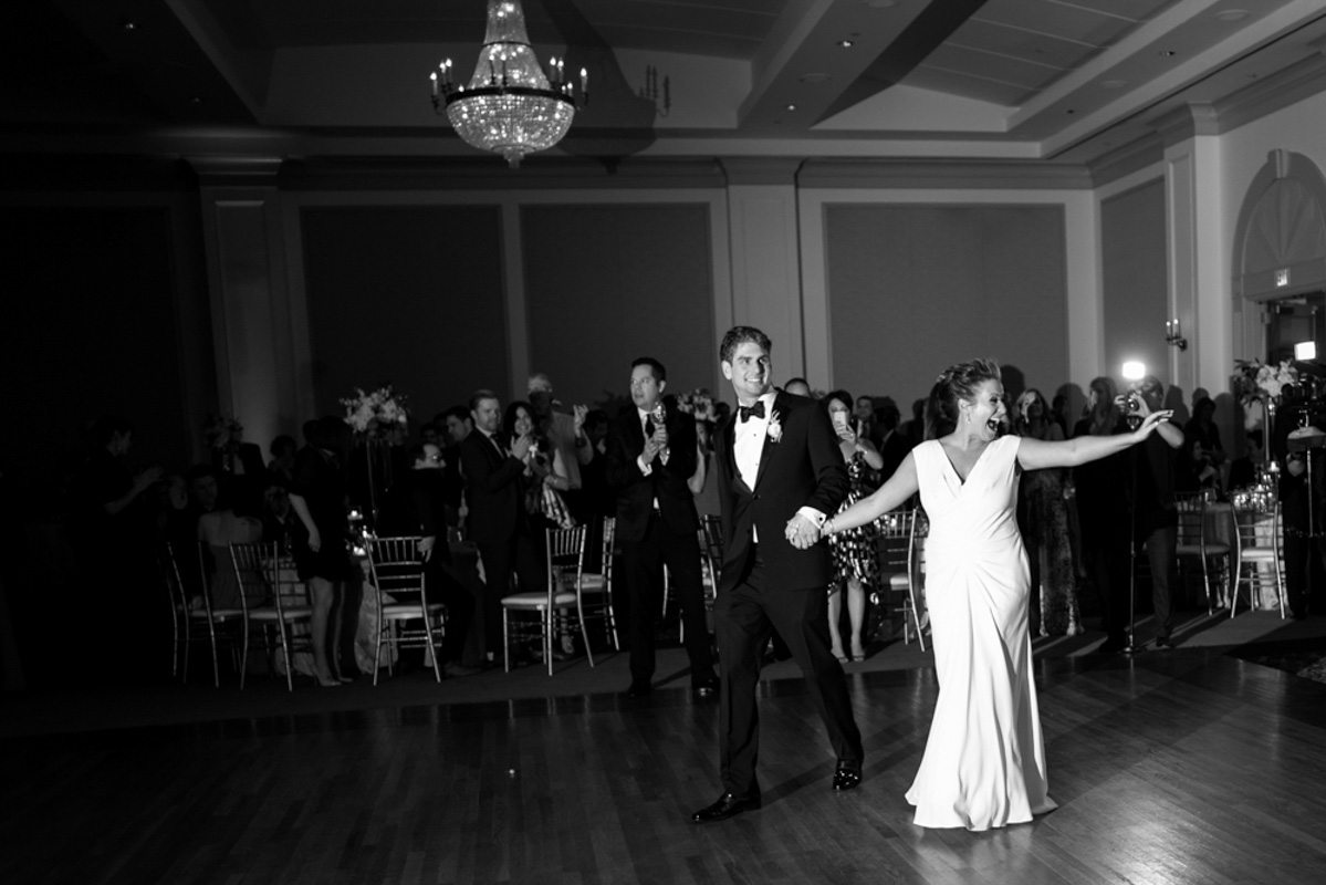 Black and White Bride and Groom Dance