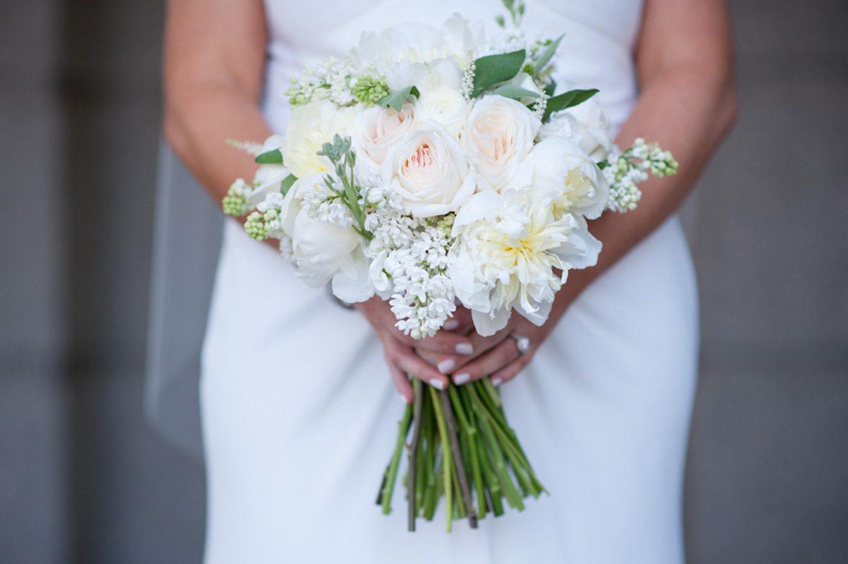 Bouquet Light Pink White Green