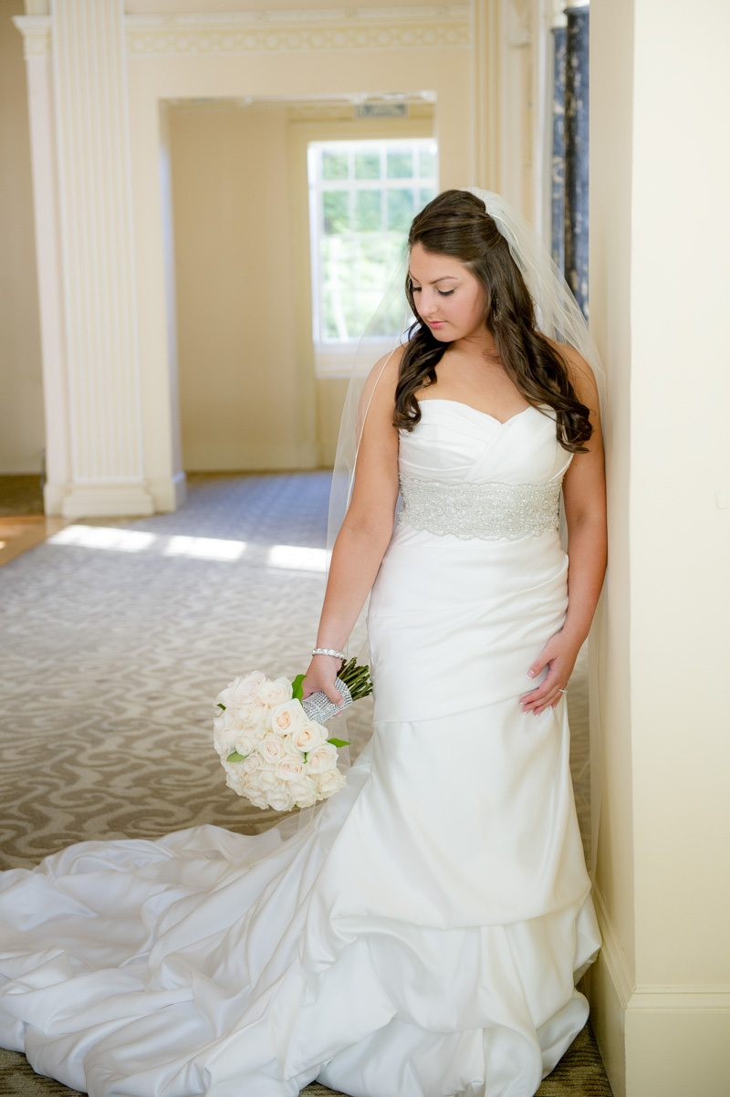 Bride Before Ceremony Full Gown - Paris Mountain Photography