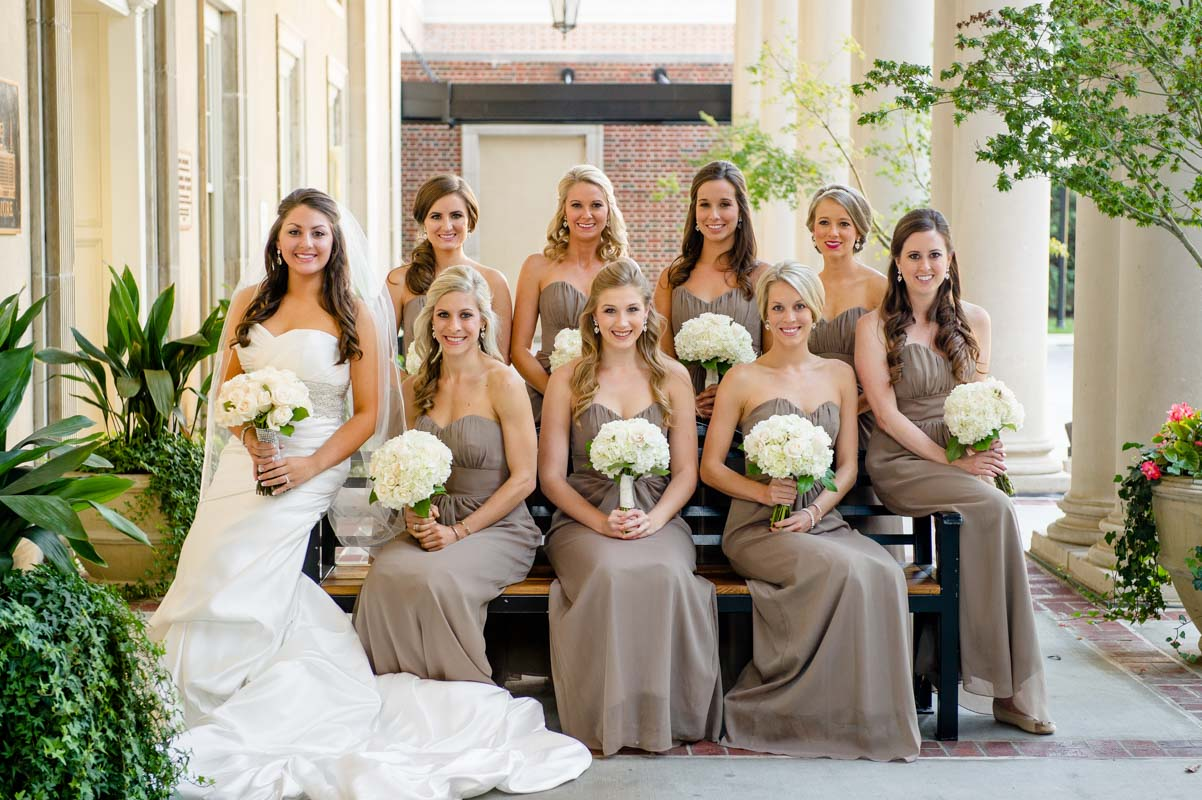 Bride and Bridemaids Sitting - Paris Mountain Photography
