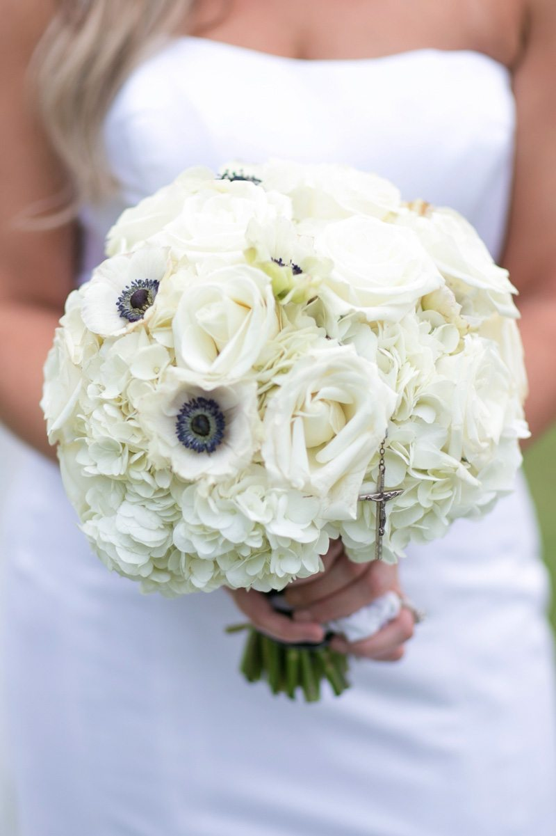Bride holding anemone, hydrangea, and rose bouquet bouquet Wilcox_Soplinski_Carrie_Wildes_Photography_CWP0733