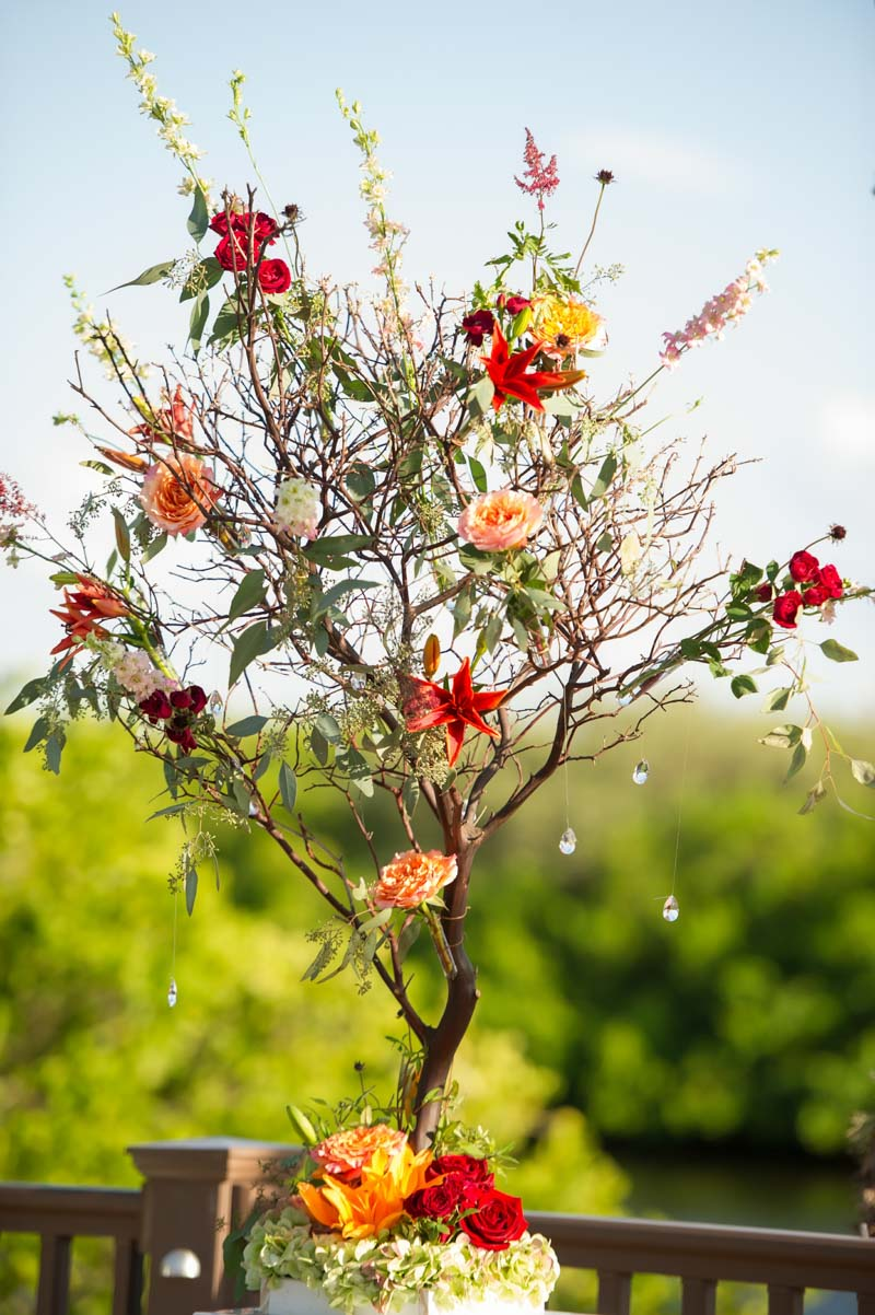 Ceremony Floral Tree with Hanging Jewels