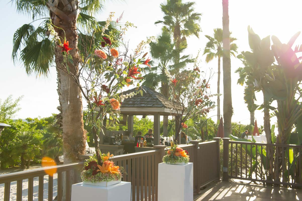 Ceremony Gazebo with Palm Trees