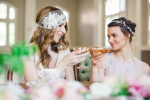 Champagne Toast Bride and Bridesmaid
