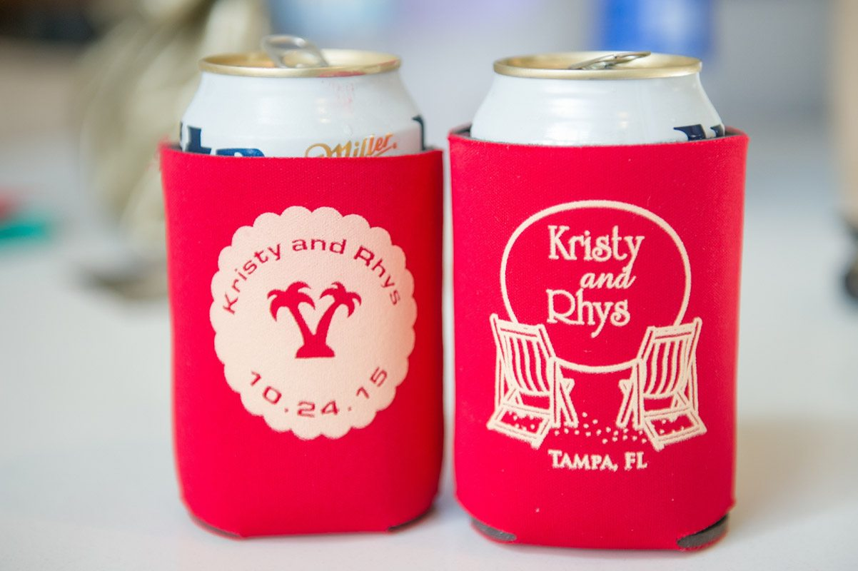 Customized Red Beer Koozies