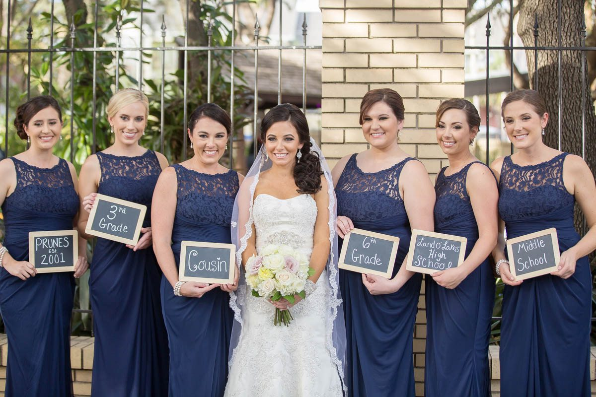 Customized bridal party signs