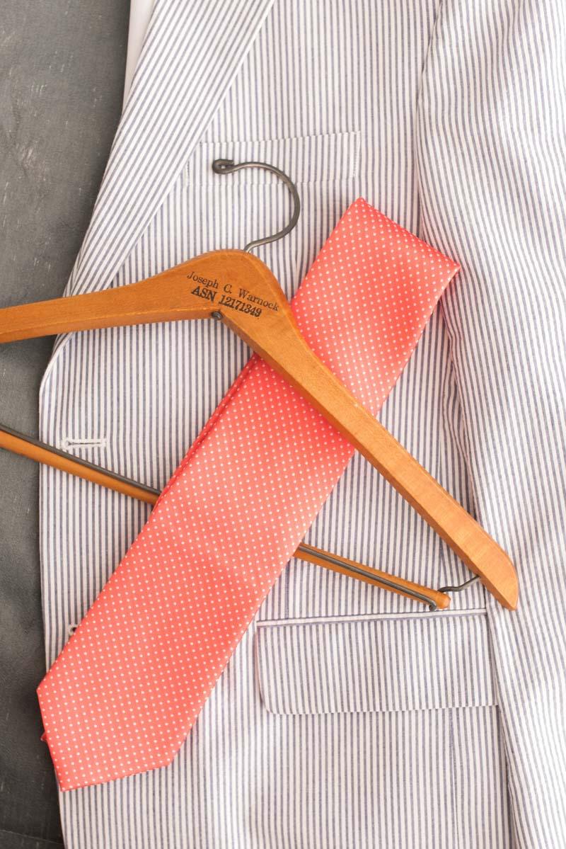 Goomswear with coral tie Pearl_Warnock_Caroline__Evan_Photography_MichaelaChrisWedding0397