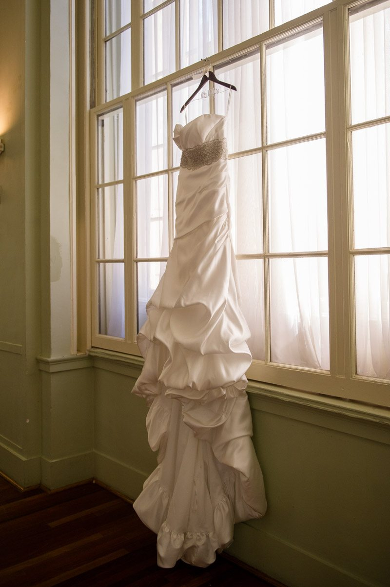 Gown in Window - Paris Mountain Photography