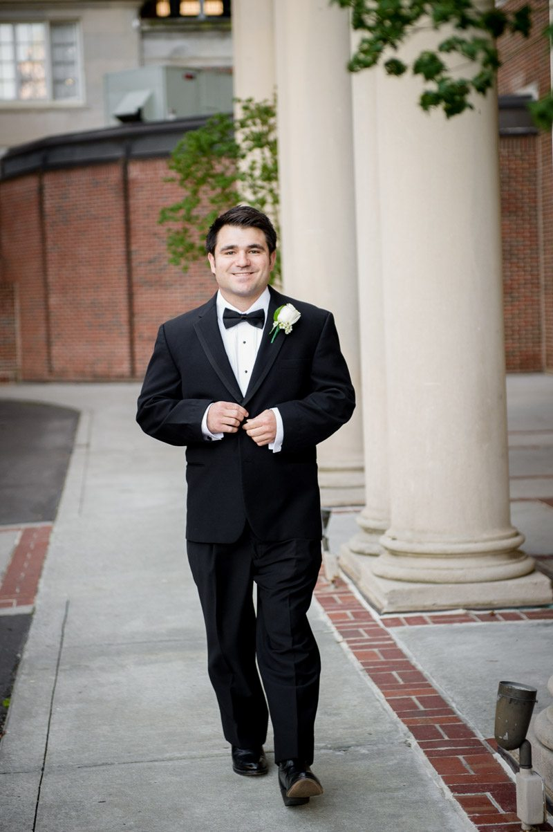 Groom BEfore CEremony - Paris Mountain Photography