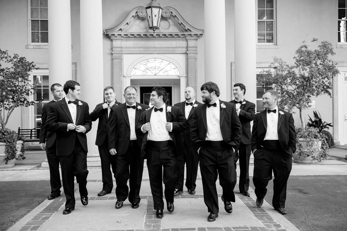 Groom and Groomsmen - Paris Mountain Photography