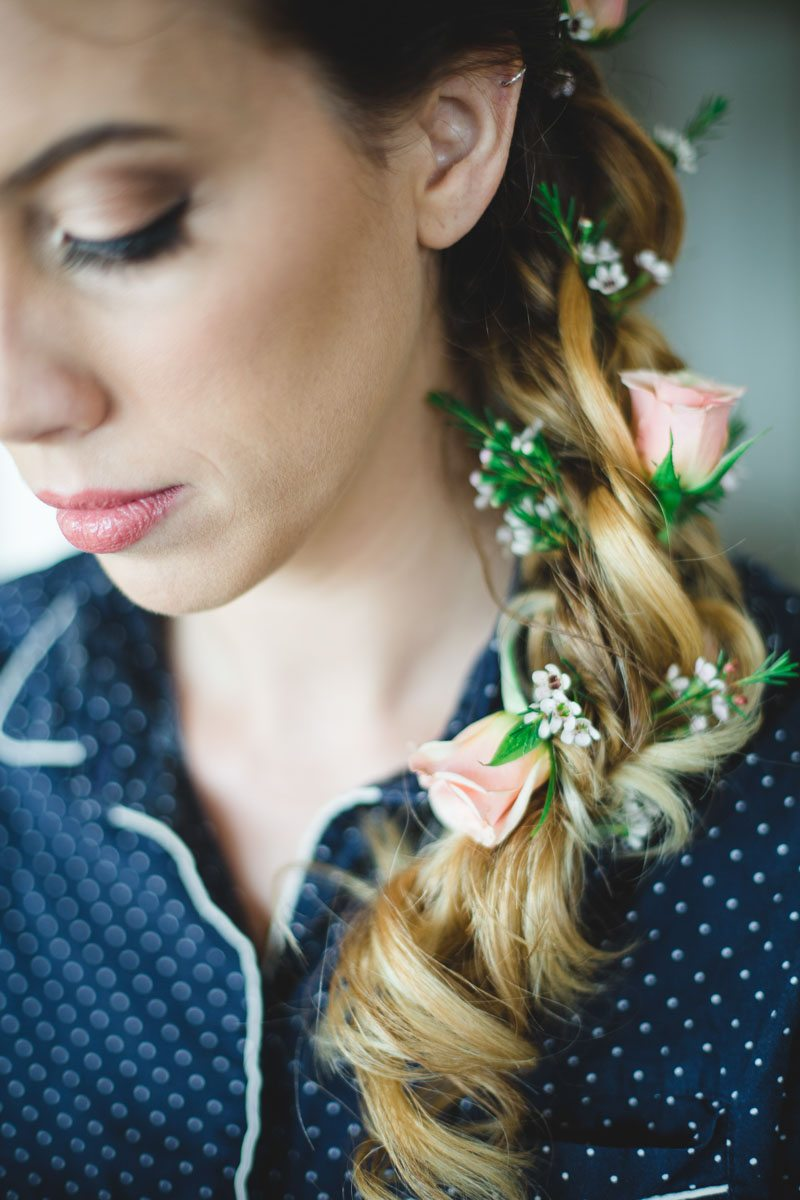 Hair styling details