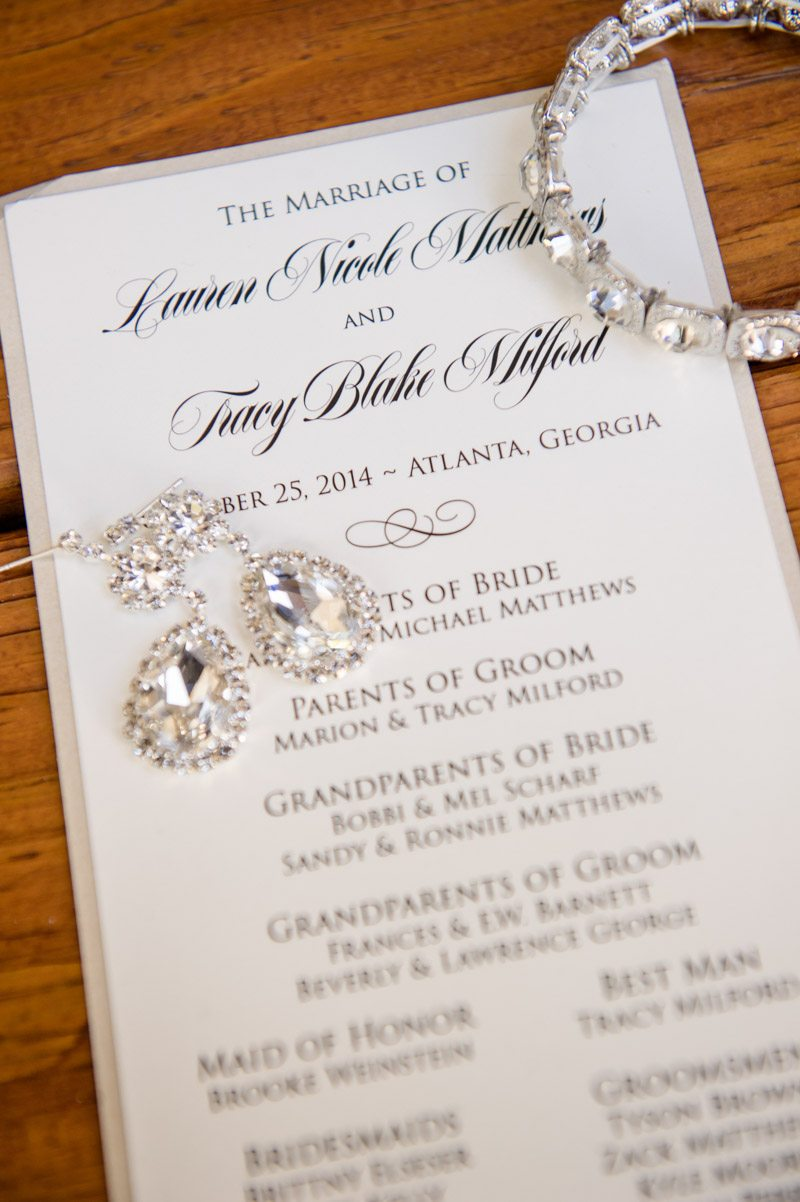 Invitations Paired with Bridal Accessories - Paris Mountain Photography