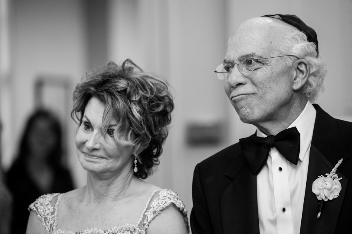 Parents Watching Marriage in Black and White