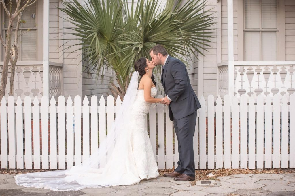 Picket fence kiss