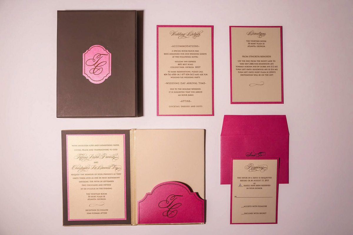 Pink and Brown Stationary