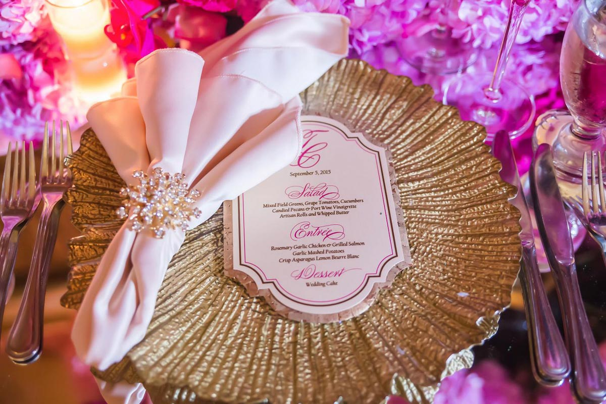Pink and Gold Menu