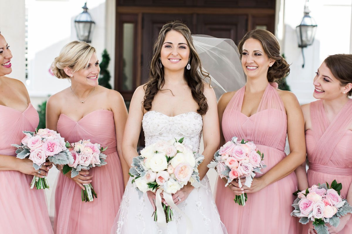Pink mismatched bridesmaid dresses christyandtaylor-w-0269
