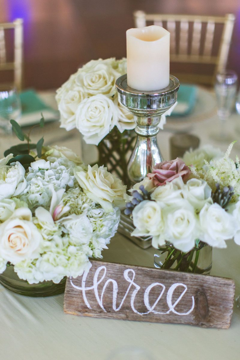 _Reception centerpiece wooden table numbers TAWed0453