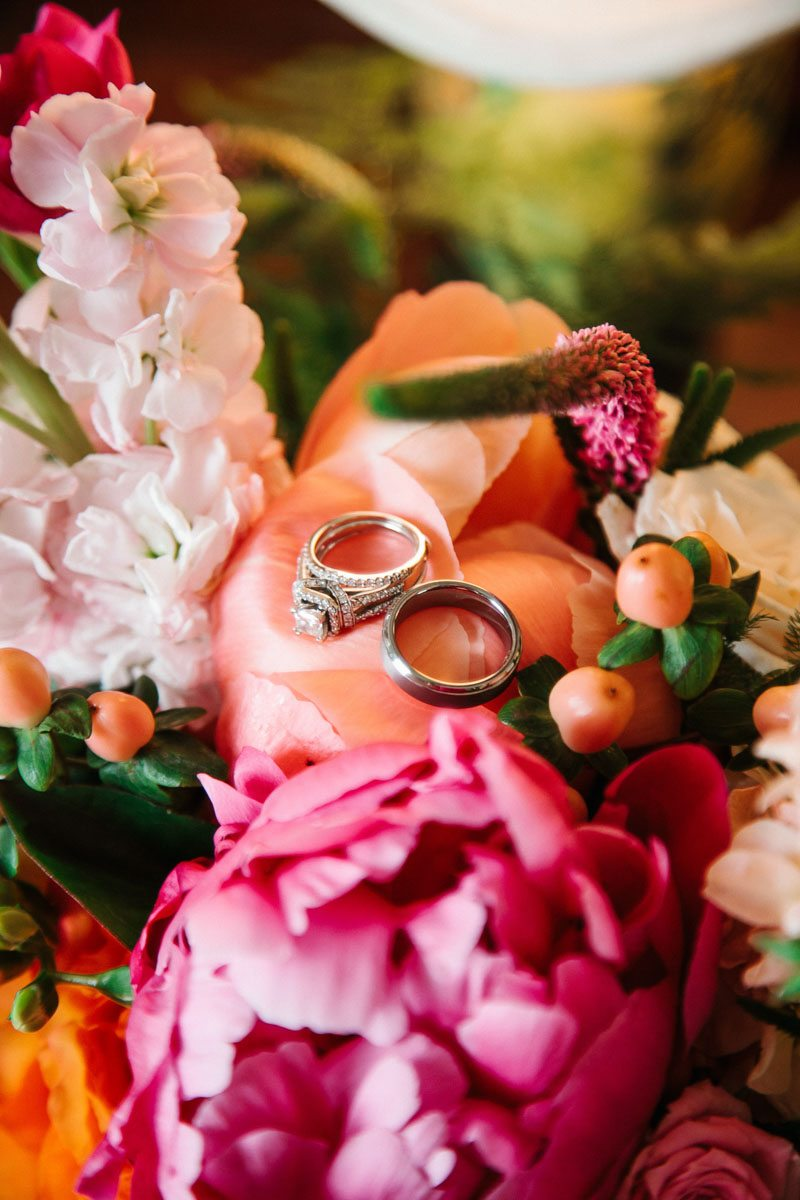 Rings Among Pink Flowers
