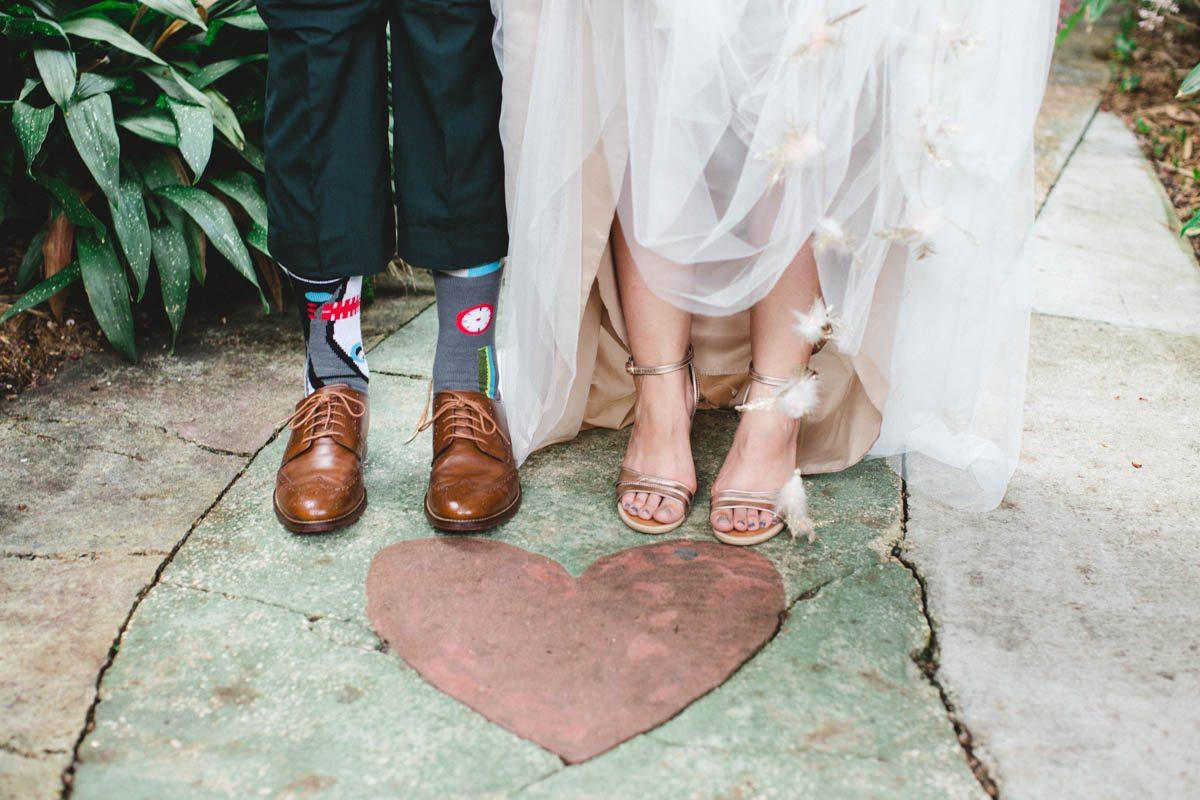Shoe sock detail