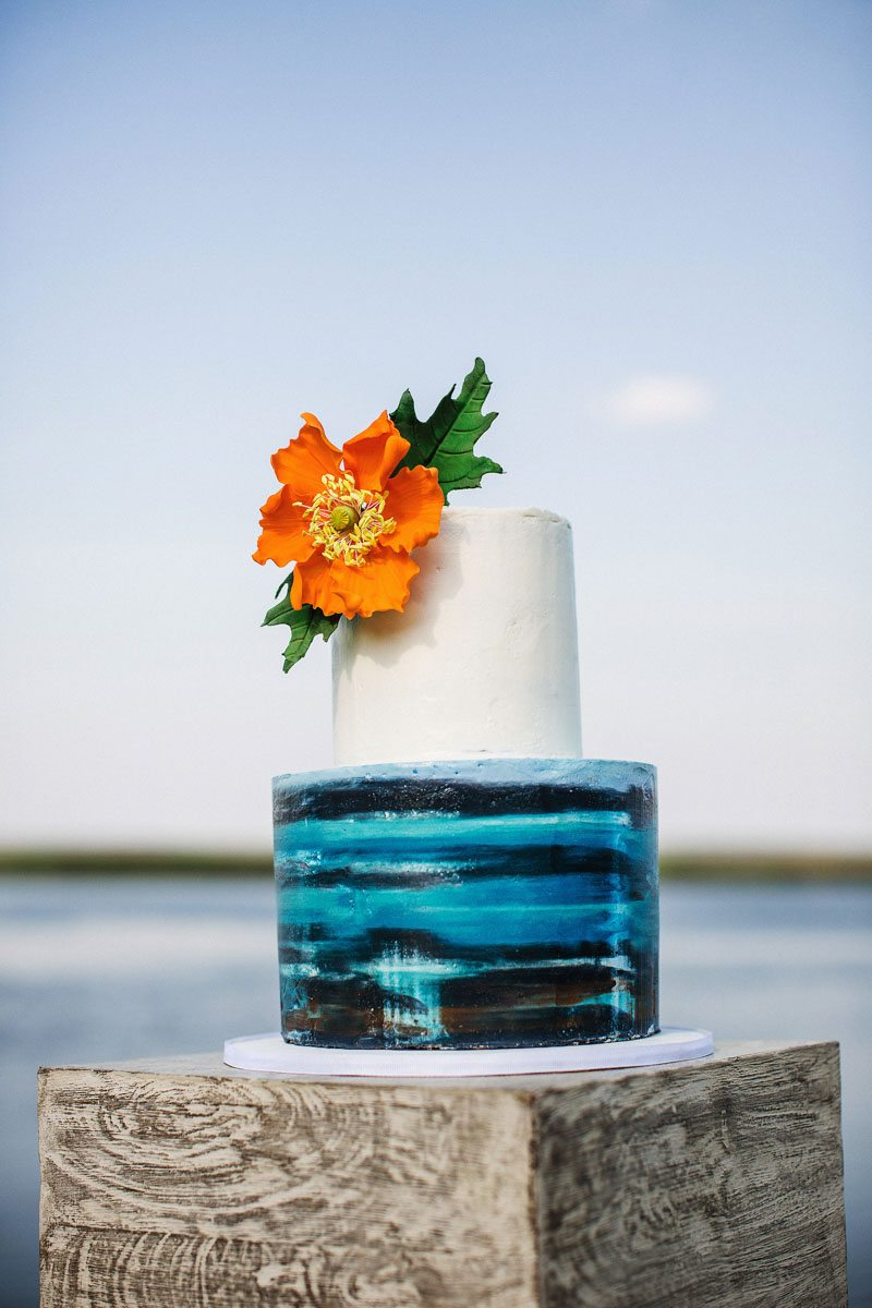 Two Tier Wedding Cake - Izzy Hudgins Photography