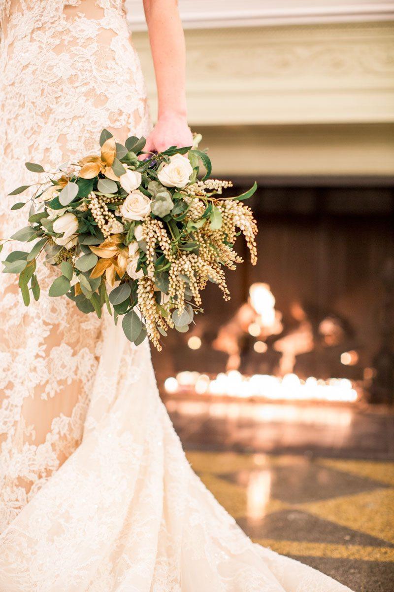 Up Close Bridal Bouquet