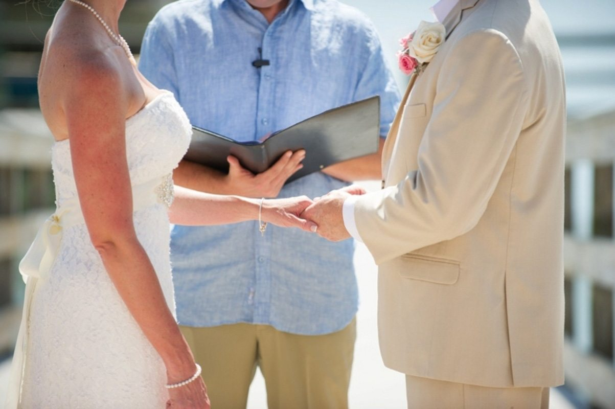 bride groom vow exchanges