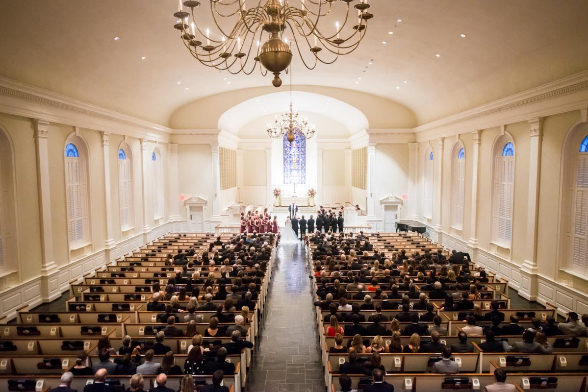 An intimate and traditional southern wedding at the club in inside church ceremony junglespirit Choice Image