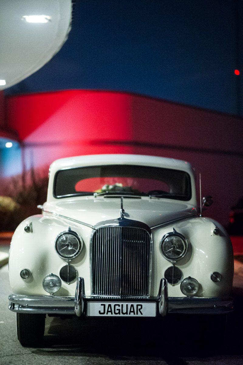 Whit vintage car jaguar plate