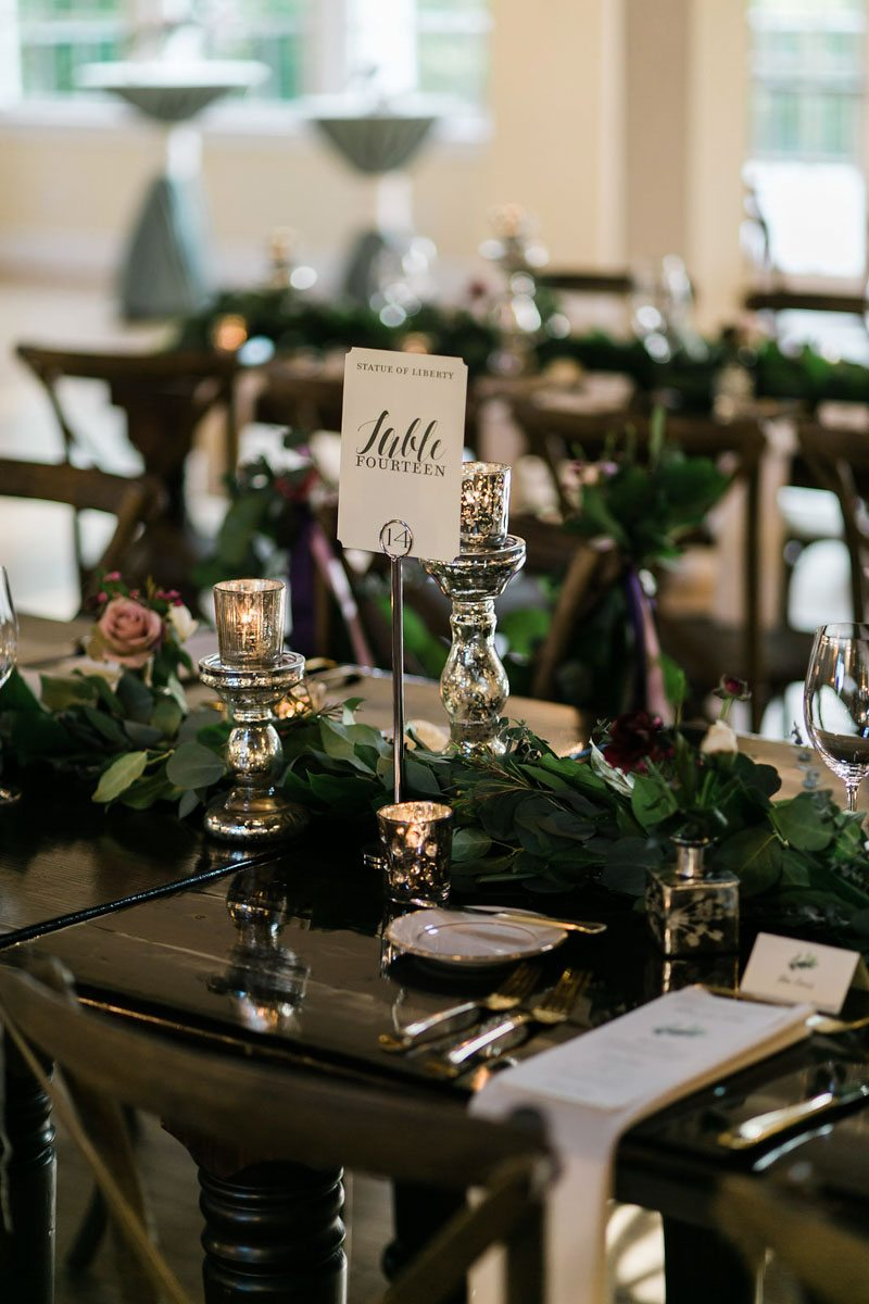 favorite places wedding reception table numbers