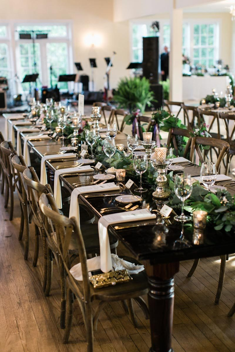 feasting table wedding reception indoor