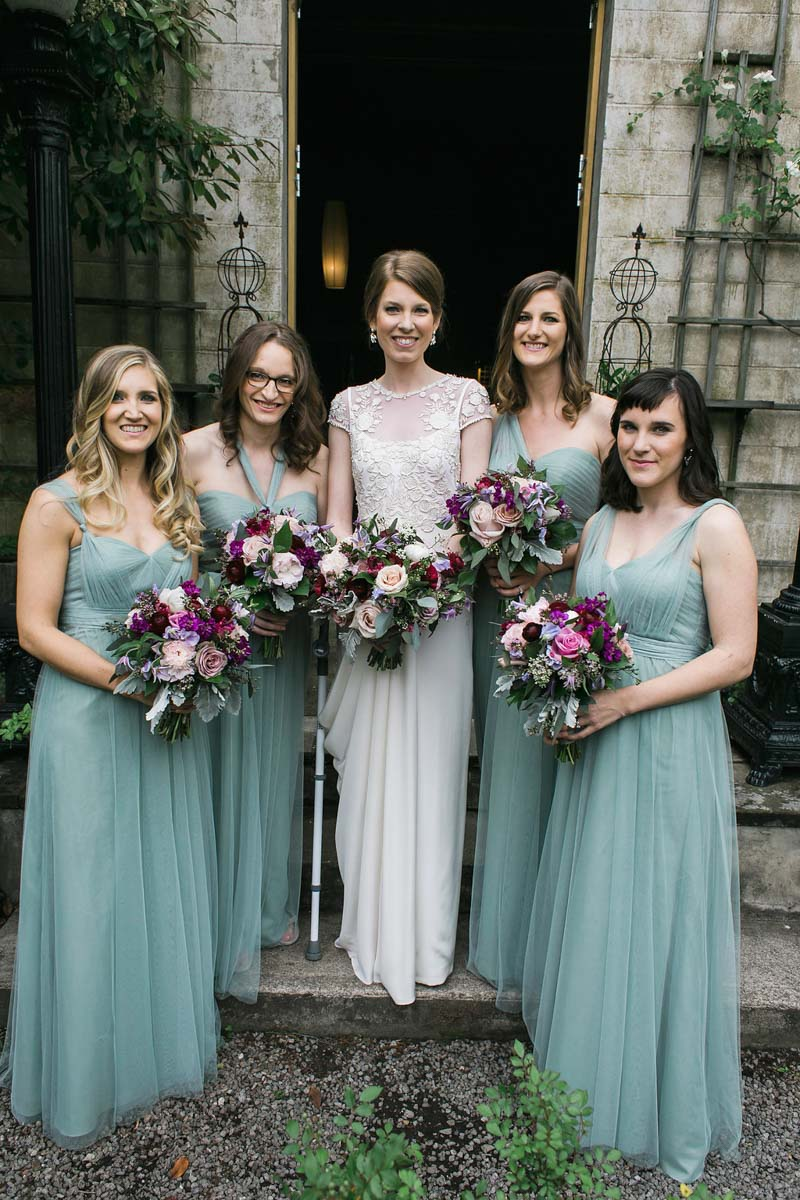 formal blue bridesmaid gowns