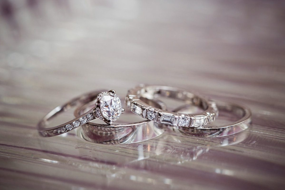 vintage inspired white gold wedding rings