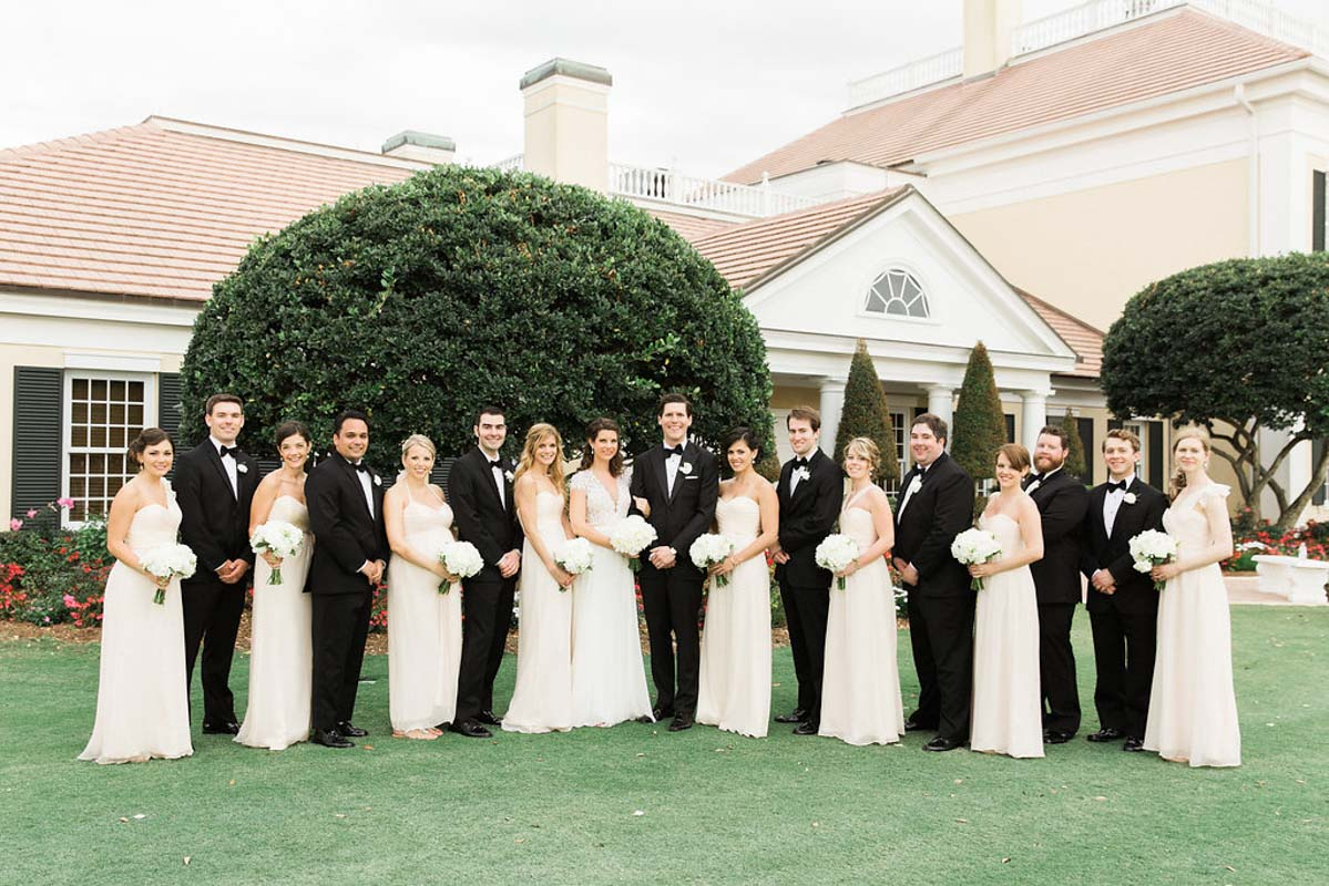 black-and-white-wedding-party